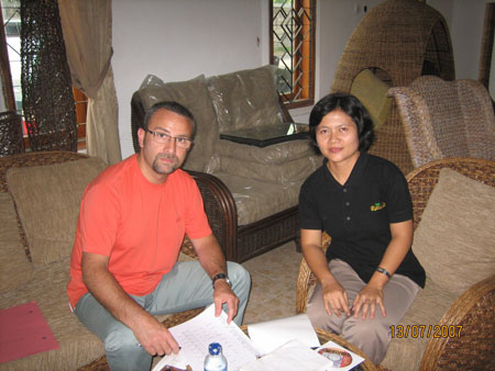 Ms. Ipur with Mr. Antonio, who interest rattan collection