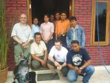 Rattanland Staff with Mr. Nelson and Mr. Norman, they are ordering living room collection.