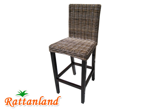 wicker barstool chair